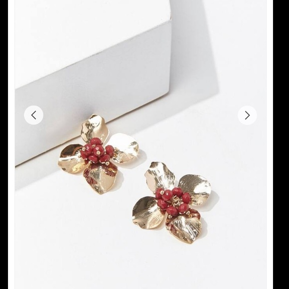 2/$15 Statement Floral Earrings